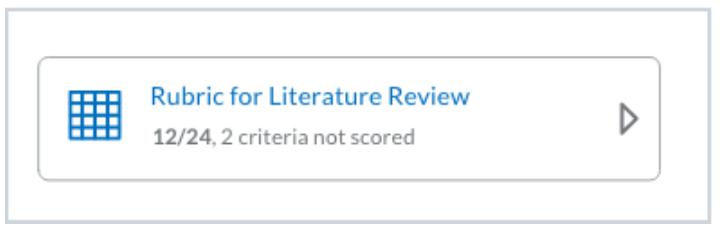 NewExperiencecollapsedtileforpartially scoredpoints-basedrubric