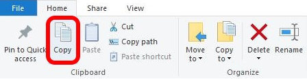 File Explorer - Copy Selection
