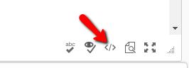 Edit HTML button in eLearn.