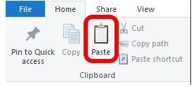 File Explorer - Paste - Clipboard Option