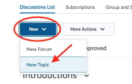 New topic button
