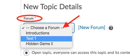 Select forum