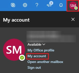 Outlook - My Account