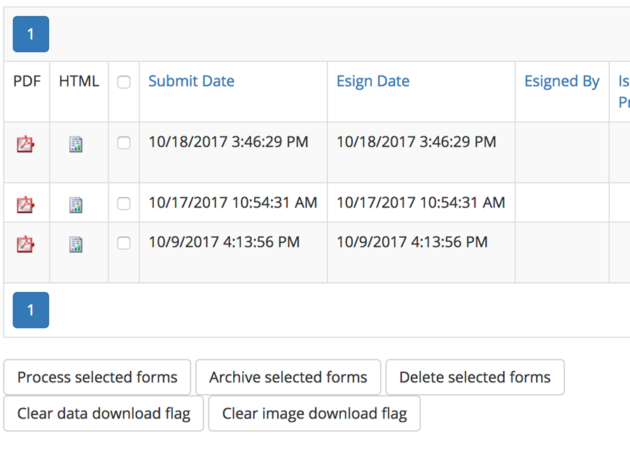 Pending Forms Dashboard