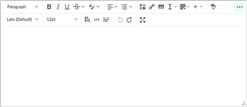 An example of the new Brightspace Editor.