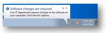 Screenshot of Software Center Balloon