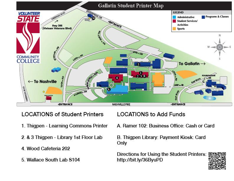 Student Printing Map