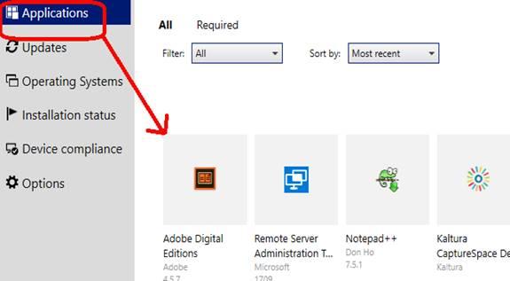 Software Center applications