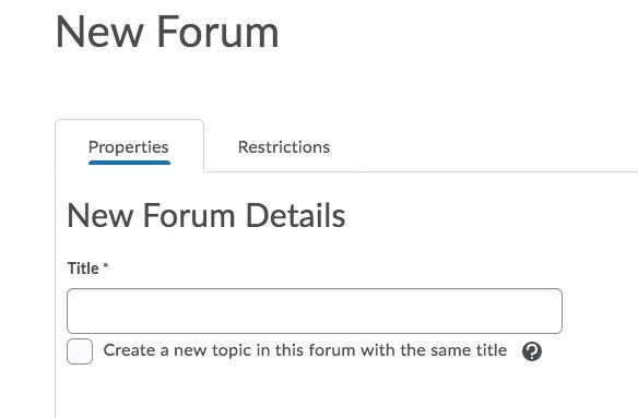 Title forum