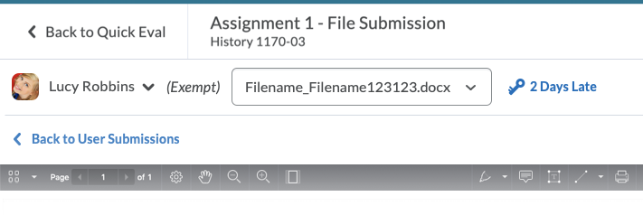 The New Submission File Picker