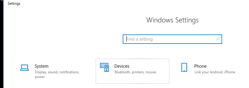 Windows Settings, Devices Icon