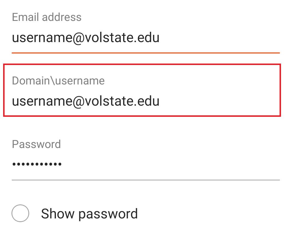Domain/username box